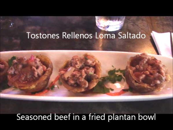 Miami Seasoned beef in a fried plantan bowl
