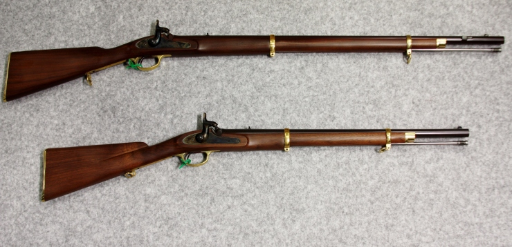 Pedersoli Cook Bros Rifle Top and Carbine bottom cropped